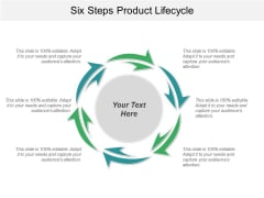 Six Steps Product Lifecycle Ppt PowerPoint Presentation Ideas Slide Portrait