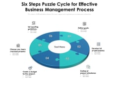 Six Steps Puzzle Cycle For Effective Business Management Process Ppt PowerPoint Presentation Gallery Background Image PDF