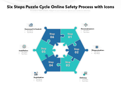 Six Steps Puzzle Cycle Online Safety Process With Icons Ppt PowerPoint Presentation Inspiration Ideas PDF