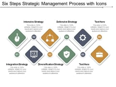 Six Steps Strategic Management Process With Icons Ppt Powerpoint Presentation Outline Graphics Example