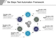 Six Steps Test Automation Framework Ppt PowerPoint Presentation Portfolio Grid