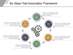 Six Steps Test Automation Framework Ppt PowerPoint Presentation Slides Gridlines