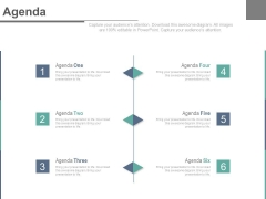 Six Steps To Develop A Realistic Agenda Powerpoint Slides