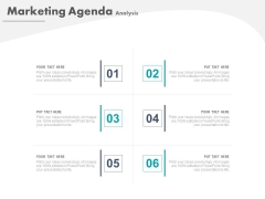 Six Steps To Focus On Agenda Powerpoint Slides