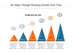 Six Steps Triangle Showing Growth Over Time Ppt PowerPoint Presentation Gallery Slide PDF