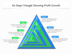 Six Steps Triangle Showing Profit Growth Ppt PowerPoint Presentation Gallery Visual Aids PDF