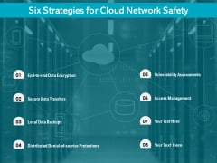 Six Strategies For Cloud Network Safety Ppt PowerPoint Presentation Gallery Slideshow PDF