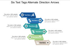 Six Text Tags Alternate Direction Arrows Ppt PowerPoint Presentation Gallery Background Image PDF