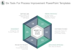 Six Tools For Process Improvement Powerpoint Templates