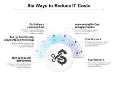Six Ways To Reduce IT Costs Ppt PowerPoint Presentation Template