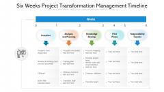 Six Weeks Project Transformation Management Timeline Ppt PowerPoint Presentation Images PDF