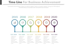 Six Years Linear Timeline For Business Planning Powerpoint Slides