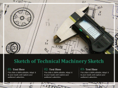 Sketch Of Technical Machinery Sketch Ppt PowerPoint Presentation Outline Clipart PDF