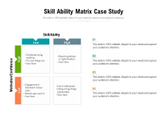 Skill Ability Matrix Case Study Ppt PowerPoint Presentation Infographics Visual Aids