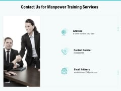 Skill Development Employee Training Contact Us For Manpower Training Services Infographics PDF