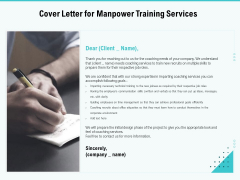 Skill Development Employee Training Cover Letter For Manpower Training Services Ideas PDF
