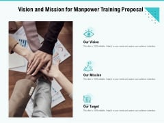 Skill Development Employee Training Vision And Mission For Manpower Training Proposal Rules PDF