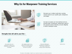 Skill Development Employee Training Why Us For Manpower Training Services Themes PDF