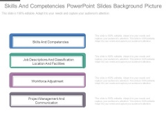 Skills And Competencies Powerpoint Slides Background Picture
