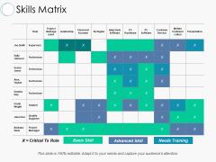 Skills Matrix Ppt PowerPoint Presentation Model Inspiration