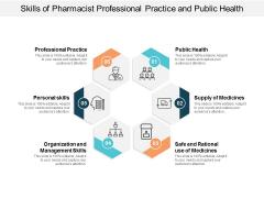 Skills Of Pharmacist Professional Practice And Public Health Ppt PowerPoint Presentation Slides Portfolio