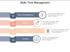 Skills Time Management Ppt PowerPoint Presentation Icon Gridlines Cpb