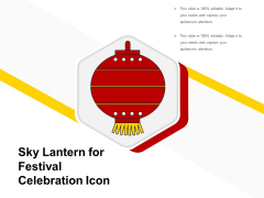 Sky Lantern For Festival Celebration Icon Ppt PowerPoint Presentation Gallery Picture PDF