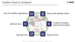 Slack Investor Pitch Deck Problems Faced By Companies Ppt Inspiration Themes PDF