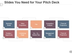 Slides You Need For Your Pitch Deck Ppt PowerPoint Presentation Ideas