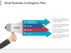 Small Business Contingency Plan Ppt PowerPoint Presentation Pictures Show Cpb