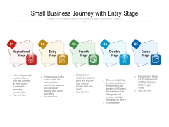 Small Business Journey With Entry Stage Ppt PowerPoint Presentation File Skills PDF