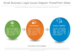 Small Business Legal Issues Diagram Powerpoint Slides