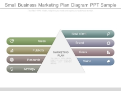 Small Business Marketing Plan Diagram Ppt Sample