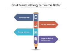Small Business Strategy For Telecom Sector Ppt PowerPoint Presentation Gallery Background Designs PDF