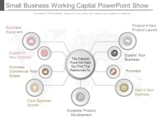 Small Business Working Capital Powerpoint Show