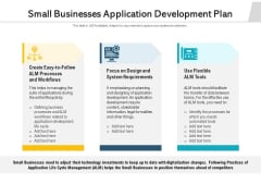 Small Businesses Application Development Plan Ppt PowerPoint Presentation Professional Guide PDF