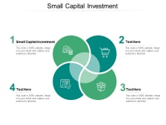 Small Capital Investment Ppt PowerPoint Presentation Visual Aids Infographic Template Cpb