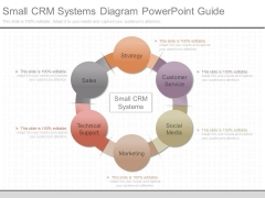 Small Crm Systems Diagram Powerpoint Guide
