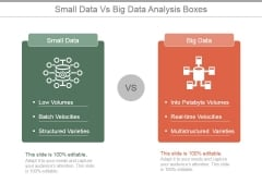 Small Data Vs Big Data Analysis Boxes Ppt PowerPoint Presentation Slides