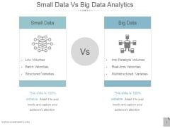 Small Data Vs Big Data Analytics Ppt PowerPoint Presentation Influencers
