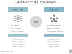 Small Data Vs Big Data Analytics Ppt PowerPoint Presentation Influencers