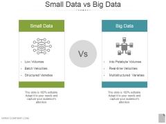 Small Data Vs Big Data Ppt PowerPoint Presentation Inspiration