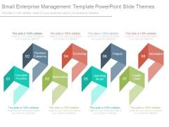 Small Enterprise Management Template Powerpoint Slide Themes