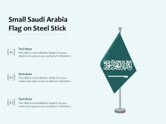 Small Saudi Arabia Flag On Steel Stick Ppt PowerPoint Presentation Professional Gridlines PDF