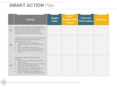 Smart Action Plan Ppt PowerPoint Presentation Inspiration Background