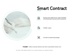 Smart Contract Agenda Ppt PowerPoint Presentation File Designs