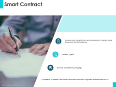 Smart Contract Ppt PowerPoint Presentation Outline Infographic Template