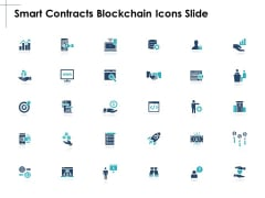 Smart Contracts Blockchain Icons Slide Arrow Ppt PowerPoint Presentation Show Gridlines