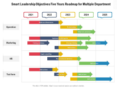 Smart Leadership Objectives Five Years Roadmap For Multiple Department Topics