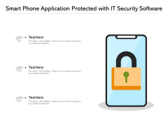 Smart Phone Application Protected With IT Security Software Ppt PowerPoint Presentation File Graphic Images PDF